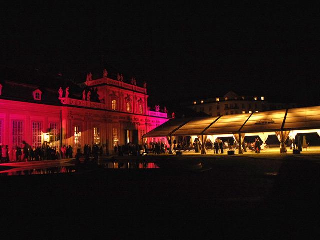 Eröffnungsfeierlichkeiten unteres Belvedere im September 2007