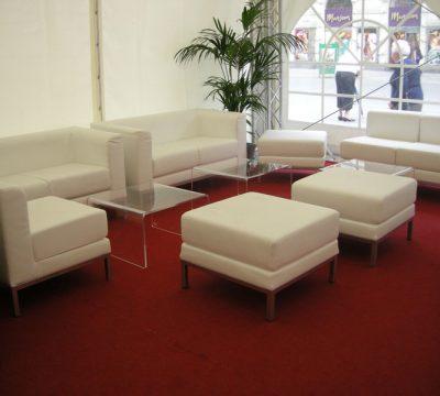 Sofagruppe aus Leder